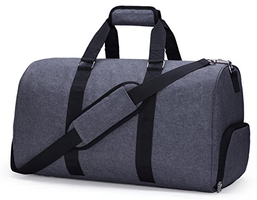 MIER Weekender Seesack Tasche Reisetasche Mit Schuhfach f¨¹r M?nner und Frauen, 2 PC-Set (grau)