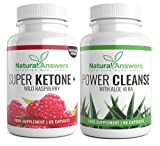 Wild Raspberry Super Ketone & Daily Power Cleanse. Trim Biofit Range Advanced Ketone with Apple Cider Vinegar & Aloe Vera for Weight Loss & Detoxifying in Men & Women. from Natural Answers