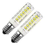 E14 LED Lampe 7W, Ersatz für 50W Halogenlampen, 500LM Kaltweiß 6000K, 360°Strahlwinkel, 220V-240V AC, für Kronleuchter Wandlampe (2er-Pack)