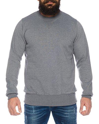 Raff&Taff Herren Sweatshirt inkl. Übergröße bis 8XL - mehrere Farben ID564, Farbe:Grau, Größe:7XL