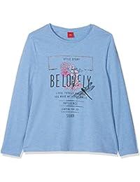 s.Oliver 66.802.31.7932, Camiseta de Manga Larga para Niñas, Blau (Light Blue Melange 53w2), 14 Años