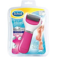 ‏‪Scholl Velvet Smooth Electric Foot File, Pink with Diamond Crystals‬‏