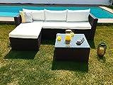 KieferGarden ARIZONA sofa Chaise Longue de exterior y mesa