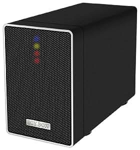 """Icy Box IB-RD4320StUS2 Boîtier Externe RAID pour 2 Disque Dur 3.5"""" SATA USB 2.0/eSATA Noir"""