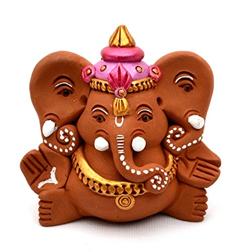 ExclusiveLane Terracotta Handpainted Sitting Ganesha With Elephant Like Ears  available at amazon for Rs.585