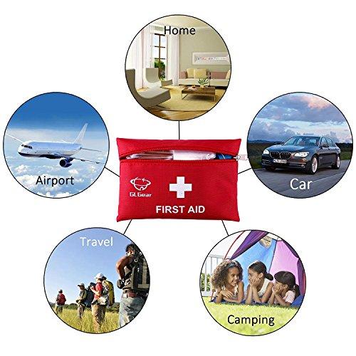 51vRsjRbXFL - GL Gear Portable Kit de Primeros Auxilios Medical Survival Bag, Mini Emergency Bag para Coche, hogar, Picnic, Camping, Viaje y Otras Actividades al Aire Libre (41 Piezas/Juego)