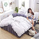 WHICH Umbrella three Bettwäsche Set,mako Satin bettwäsche 135 x 200-white-Bettbezug 200 x 230 cm und EIN Blatt von 200 x 220 cm und 2 Kissenbezüge 48 x 74 cm