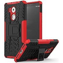 MoKo Huawei Mate 8 Funda - Heavy Duty Rugged Dual Layer Armor with Kickstand Protective Funda para Huawei Mate 8 6-inch Smartphone 2015 Release, Rojo