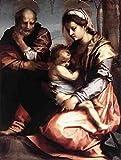 Andrea Del Sarto Holy Family Barberini A3 Box Canvas Print