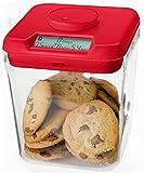 Kitchen Safe: Verschließbarer Behälter mit Zeitschaltuhr (Red Lid + Clear Base) - 5.5