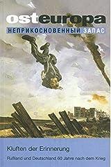 Kluften der Erinnerung: Russland und Deutschland 60 Jahre nach dem Krieg Paperback