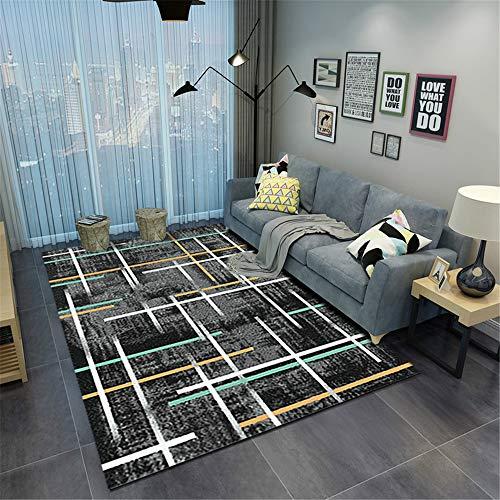 Tappeto a palla piccola-tappetino per tappeti inchiostro moderno da salotto con tavolino da salotto minimalista 60x90cm