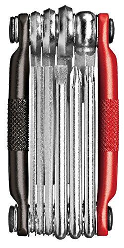 Crankbrothers Multi-Tool - Stahl-Fahrradwerkzeug, Torx, Sechskant Und Kettenwerkzeug, Kompatibel (M19, M17, M10, M5), Unisex-Erwachsene, M10, Schwarz/Red, Multi 10
