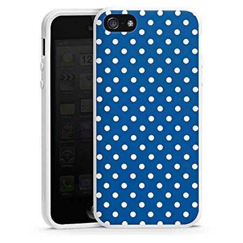 Apple iPhone 5s Housse Étui Protection Coque Petits points Motif Motif Housse en silicone blanc