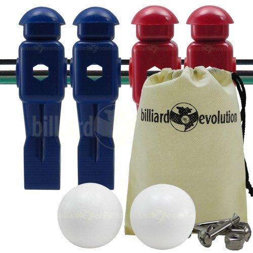 Fußball-billard-kugeln (4Kugeln rot und blau Dynamo Fußball, Herren und 2glatt mit gratis Schrauben und Muttern von Billard Evolution)