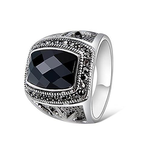 Yoursfs Retro Index Finger Ringe für Männer oder Frauen, 18ct White Gold überzogene Mode Personalisierte Domineering Dekoration Ringe