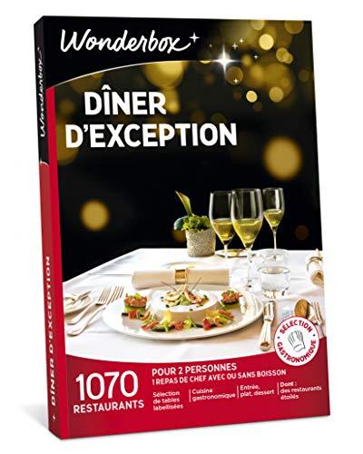 Wonderbox - Coffret cadeau couple pour Noel - DÎNER D'EXCEPTION - plus de 1.000...