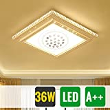 HG® 36W LED kristall deckenleuchte Eckig Wandlampe Panel Kristall Quadrat Wohnraum Korridor