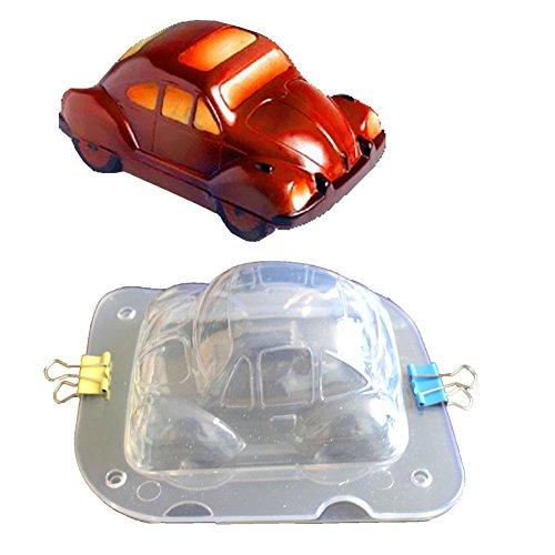 FOReverweihuajz 3D Mini Auto Chocolate Candy Schimmelpilz Kuchen Dekorations Werkzeug für die Küche backen für Kinder und jungen