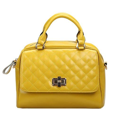 Dissa Q0436 donna Borse a spalla,Borse a tracolla28x20x14 cm (B x H x T) Yellow