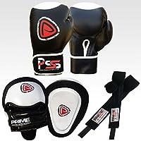 MMA Set Guantes De Boxeo, Sacos De Pegada, Vendas Para Manos, Set De Entrenamiento S1 - Focus Pad-1104, Guantes de Boxeo 10 - Oz