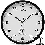 Orologio da parete Orologio radiocontrollato Quarzo Orologio da parete radiocontrollato Analogico Orologio 31cm Regolazione ora Automatico