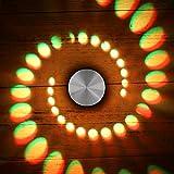 FeiliandaJJ 3W LED Wandleuchte Aussen Innen Leuchte Wandlampe Badlampe Wandstahler Effektlampe Badleuchte Flurlampe Effekt für Babyzimmer Kinderzimmer Schlafzimmer [Energieklasse A+] (A)