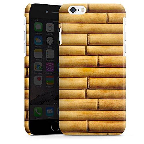 Apple iPhone 5s Housse Étui Protection Coque Natte en bambou Tuyaux en bambou Look motif Cas Premium brillant