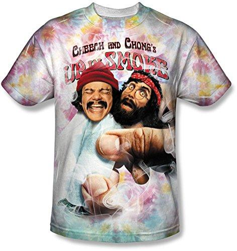 Cheech & Chong - - Uomini Obbligazionari fritto colorate t-Shirt bianco XXXL