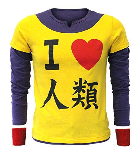 Life Kostüm Cosplay No Game No - CoolChange No Game No Life T-Shirt von Sora mit 2 roten Schweißbändern (L)