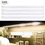 LED Unterbauleuchte S&G® LED Schrankleuchte LED Leuchte für Kleiderschrank LED Lichtleiste Treppe Licht warm-weiß (4pcs)