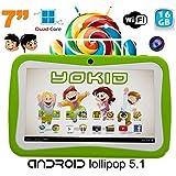 Tablette tactile enfant YOKID 7 pouces quad core android 5.1 Vert 16Go