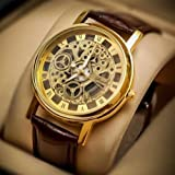 #9: Style keepers Transparent Analog Gold Dial Men's Watch - 103
