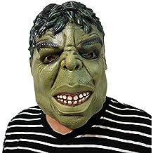 Máscara Hulk Green Monster - Perfecto para Carnaval, Carnaval y Halloween - Disfraz Adulto - Látex, unisexo Talla única