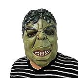 thematys Hulk grünes Monster Maske - perfekt für Fasching, Karneval & Halloween - Kostüm für Erwachsene - Latex, Unisex Einheitsgröße