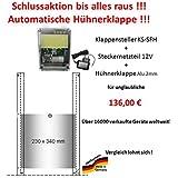 Automatische Hühnerklappe + Steckernetzteil + Klappe/Schieber - Schlussaktion 2017 vom Hersteller !
