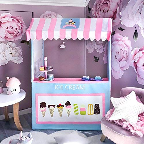 Ice Cream Cart (125cm tall),Child Development and Learning Playhouse Toy Shop, Large Kids Play Tent