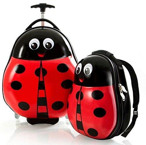Heys Kids Voyage Tots (Coccinelle) léger bagage et ensemble sac à dos - 2 pcs set Ladybug