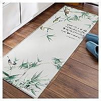 Erasable Pvc Kitchen Mat, Oil-proof Non-slip Waterproof Enter Doormat Anti-fall Customizable Foot Pad (Color : D, Size : 45x150cm)