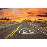 Papel pintado fotográfico de la Route 66 – Papel pintado fotográfico que muestra la autovía americana – Póster XXL decoración mural de la marca Great Art ®