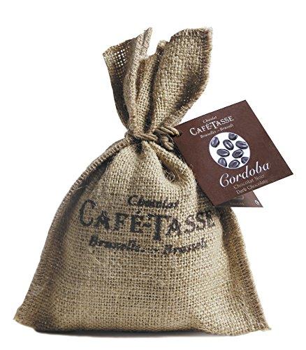 Café Tasse Schokolierte Kaffeebohnen 'Cordoba Dark' im authentischen Jutesäckchen, 1er Pack (1 x...