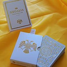 Shin Lim Regalia Playing Cards Weiß (White), Spielkarten by, Luxuriöses Pokerkartenspiel, Limited Edition, Poker Deck, Poker Sets + 3 Look and Feel Karten