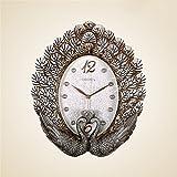 Komo Geräuscharm Modernes Ziffernblatt Kein nerviges Ticken Küchenuhr Wohnzimmer Wall Clock Clock Mute große Schlafzimmer Einrichtungsideen Wanduhren / 43 x 36 cm