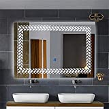 Papdiwal Industries MIRRORNOW'S Imported Touch Sensor LED Vertical Bathroom Mirror (30X24 Inches)