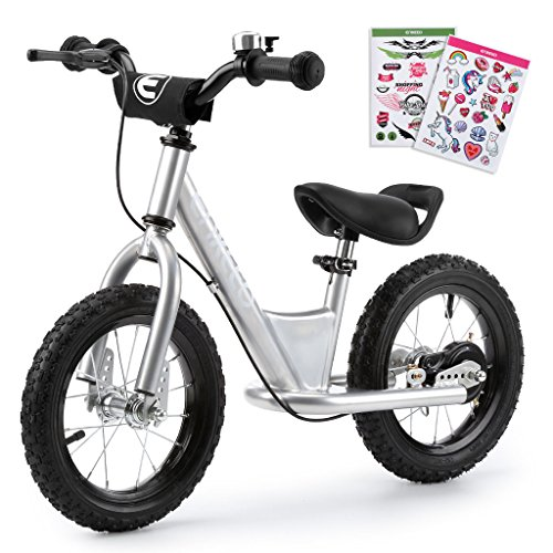 ENKEEO 12' Draisienne Pas de Pédale de Contrôle Vélo de Marche de Formation de Transition avec...