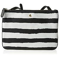 RALPH LAUREN 431758181006 Womens Crossbody Bag, Black/White