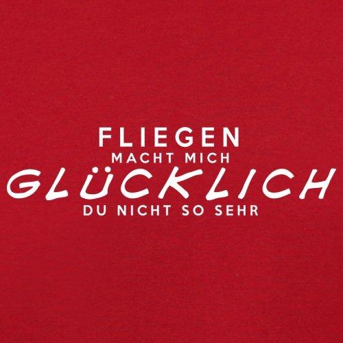 Fliegen macht mich glücklich - Herren T-Shirt - 13 Farben Rot