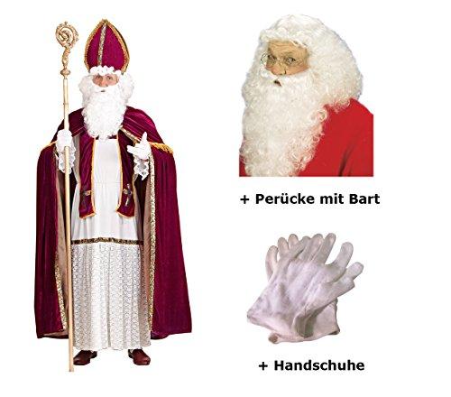 Sankt Nikolaus Kostüm - Scherzwelt Nikolaus Kostüm Bischof Weihnachten Gr