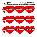 5cm (5,1cm) Scrapbooking, Aufkleber I love Herz Namen weiblich C Carl Cassandra