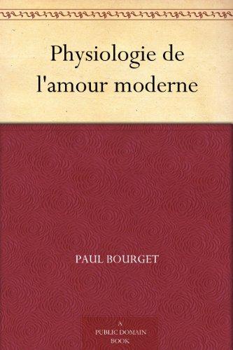 Couverture du livre Physiologie de l'amour moderne